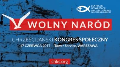 W sobotę w Warszawie Chrześcijański Kongres Społeczny