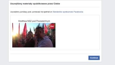 Facebook cenzuruje katolicyzm! Bany za Modlitwę NSZ!