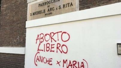 Poruszający wpis włoskiego proboszcza. Odpowiedział autorowi proaborcyjnego graffiti