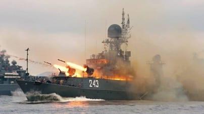 Rosyjskie okręty ostrzelały punkty dowodzenia IS w Syrii! USA nie powiadomiono o ataku