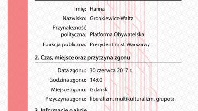 """""""Akty zgonu politycznego"""" – akcja Młodzieży Wszechpolskiej"""