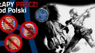 Ręce precz od Polski! Manifestacja przeciwko ingerencji w wewnętrzne sprawy Polski [WIDEO]