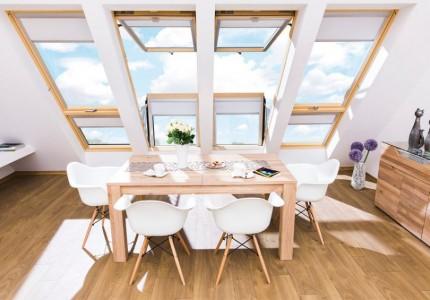 Okna dachowe balkonowe, fot. Fakro