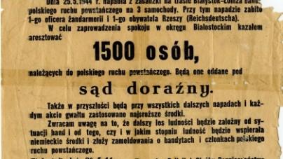 Kara za zabójstwo nazisty? O tragedii miasteczka Tykocin