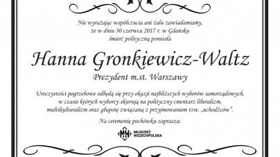 """""""Klepsydra polityczna"""" HGW! Pikieta Młodzieży Wszechpolskiej pod Urzędem Miasta Stołecznego Warszawy"""
