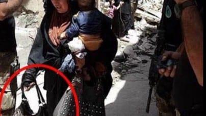 Kobieta z dzieckiem na ręku dokonała samobójczego zamachu. Iracka telewizja uchwyciła moment przed zdetonowaniem bomby