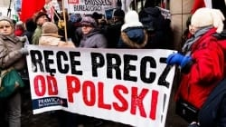 """Protest przed niemiecką ambasadą: """"Niemcy już wiedzą, że sprawa strat i szkód nie ominie RFN"""""""