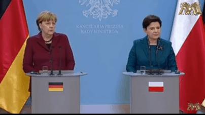 """Beata Szydło o Angeli Merkel. Nigdy nie potępiła sformułowania """"polskie obozy"""" w niemieckich mediach"""