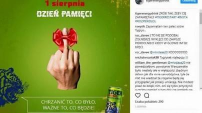 Tiger przeprasza za skandaliczną reklamę kpiącą z Powstania Warszawskiego