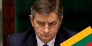Marszałek Sejmu twierdzi, że bezpieczeństwo Litwy jest ważniejsze niż prawa Polaków