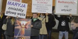 """Wrocław: Protest przeciwko """"Klątwie"""""""