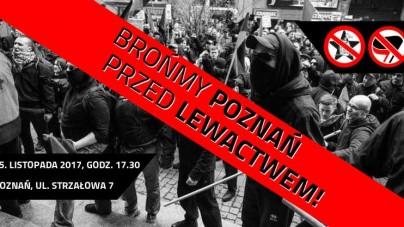 Antifa chce blokować wykład Winnickiego – razem zakończmy ostatnie podrygi poznańskiej lewicy!