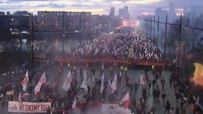 Jedyne takie nagranie w sieci! Zobacz cały Marsz Niepodległości na jednym filmiku [WIDEO]