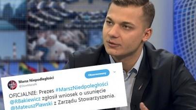 Jest reakcja prezesa Marszu Niepodległości ws. wypowiedzi Mateusza Pławskiego