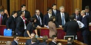 Dziennikarze śledczy: W ukraińskim parlamencie kupowano głosowania