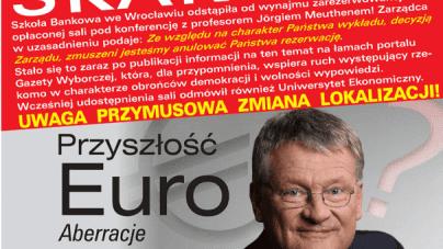 Lewacka uległość wobec poprawności politycznej. Wrocławska szkoła blokuje wykład z prof. Jorgiem Meuthenem