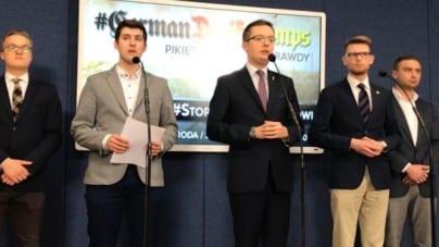 """Narodowcy odwołali pikietę pod ambasadą Izraela, ale zapowiadają dalsze działania. """"Nie chcemy się konfrontować z państwem polskim"""", """"PiS prowadzi politykę na kolanach"""""""