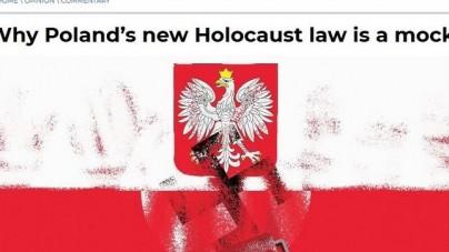 Polskie godło i flaga obok swastyki. Ambasador Polski protestuje przeciw prowokującej okładce