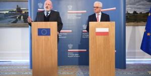 Timmermans: Zmiana w rządzie doprowadziła do zmiany w klimacie relacji