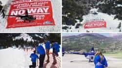 """""""Granica zamknięta – wracajcie do siebie"""". Francuzi wbrew państwu patrolują Alpy [VIDEO]"""