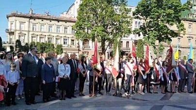 Lwów – Polacy uczcili święto Konstytucji