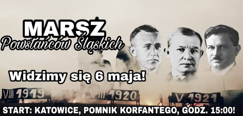 Marsz Powstańców Śląskich już 6 maja w Katowicach!