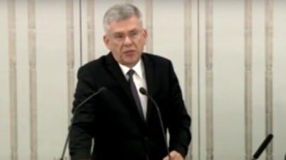 Piotr Wilczek: – proszę w imieniu rządu Rzeczpospolitej Polskiej aby przeprosił Pan marszałka Senatu