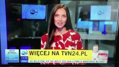 Wpadka TVN24 ws. hat-tricka. Dziennikarka zawieszona, wydawca bez dyżurów
