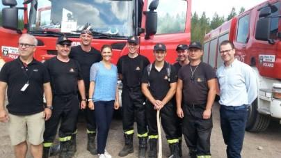 Szwecja: Polskich strażaków odwiedziła księżniczka Wiktoria. To następczyni tronu