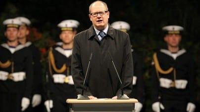 Uroczystości na Westerplatte z asystą wojskową