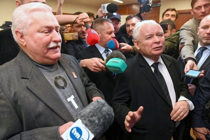 Kaczyński i Wałęsa stawili się w sądzie. Ugody nie będzie