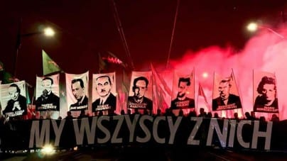 Młodzież Wszechpolska ostro na Marszu Niepodległości. Spaliła flagi LGBT i UE