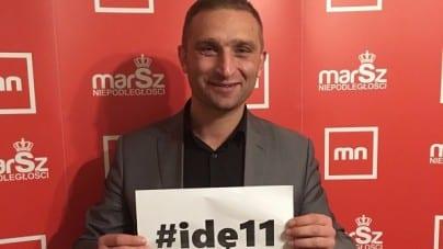 Robert Bąkiewicz zachęca do akcji #idę11 – Pokażmy, że jest to marsz Polaków, którzy kochają swoją ojczyznę