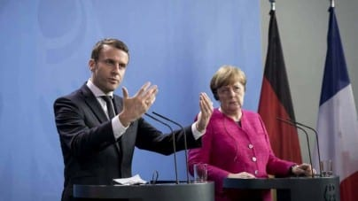"""Spięcie na linii Merkel-Macron. """"Mam dość sprzątania po tobie"""""""