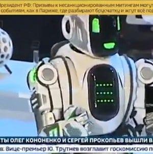 Wpadka Rosjan – innowacyjny robot okazał się mężczyzną w kostiumie