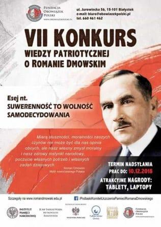 Ruszył konkurs wiedzy o Romanie Dmowskim. Sprawdź, jak wziąć w nim udział