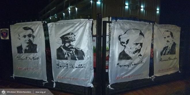Wszechpolacy przypominają ojców odrodzonej Polski – sto transparentów na stulecie odzyskania niepodległości