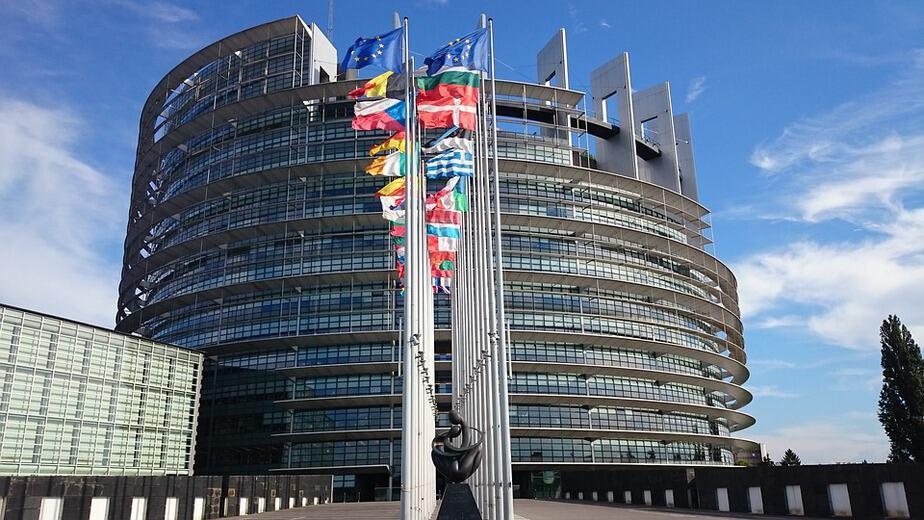 Budynek Parlamentu Europejskiego.