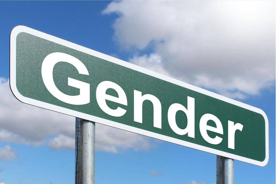 Tablica z napisem gender.