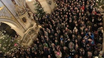"""Kibice modlili się za Polskę na Jasnej Górze: """"Zło dobrem zwyciężaj"""""""