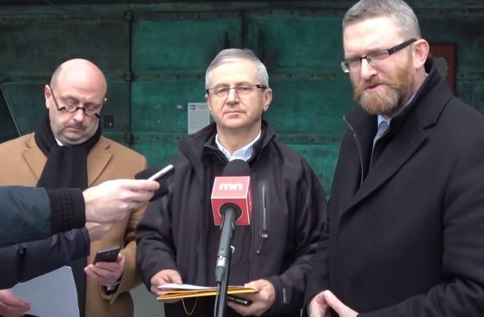 [Wideo] Komisja wyborcza odroczyła rejestrację Grzegorza Brauna