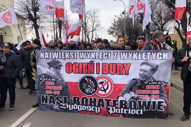 Narodowcy upamiętnili Wyklętych w Hajnówce. Skrajna lewica protestuje
