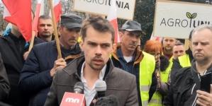 Kołodziejczak zatrzymany przez policję podczas protestu rolników!