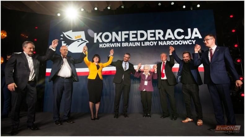Sondaż: Konfederacja nad progiem wyborczym i przed Kukiz'15