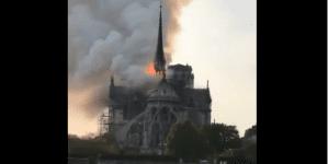 Ksiądz-bohater wyniósł z płonącej katedry relikwie korony cierniowej
