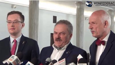 """Konfederacja odpowiada PiS: """"Nie dla euro w Polsce"""""""