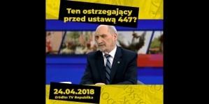 """Oto jak kłamią politycy PiS ws. ustawy 447: """"Zobaczcie co jeszcze rok temu mówił poseł Macierewicz, a co mówi dziś"""" [WIDEO]"""