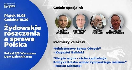 [WYDARZENIE] Żydowskie roszczenia a sprawa Polska