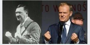 """""""Kliknąłem i poleciało"""" – polityk o udostępnieniu zdjęć Tuska i Hitlera"""