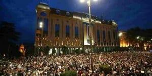Tysiące protestujących na ulicach Tbilisi. Rannych kilkadziesiąt osób